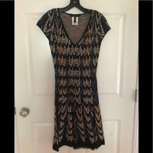 BCBG MaxAzria Silk and Cotton Dress